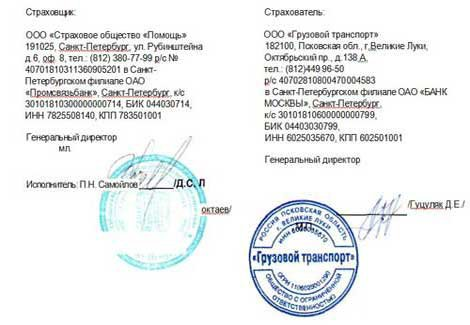 юридические адреса сторон в договоре образец