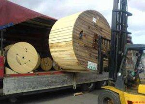 Перевозка кабеля в катушках и барабанах